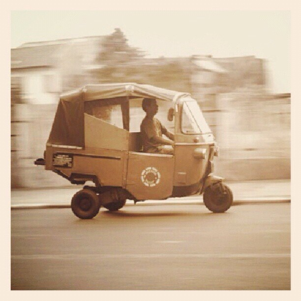 Bajaj is a three-wheeled car that is very popular in Indonesia. Has no air-conditioning and small wheels and a ride in Bajaj can often be bumpy.   Each driver is only allowed to take fares in their designated zone and you can bargain for the price of your fare.