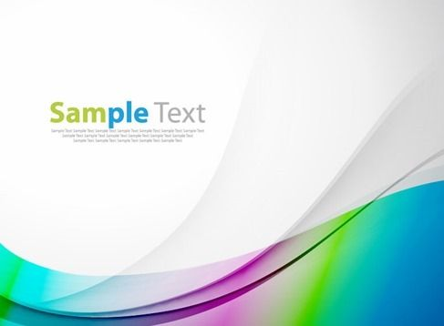 Abstract Colorful Background Wave Vector Illustration