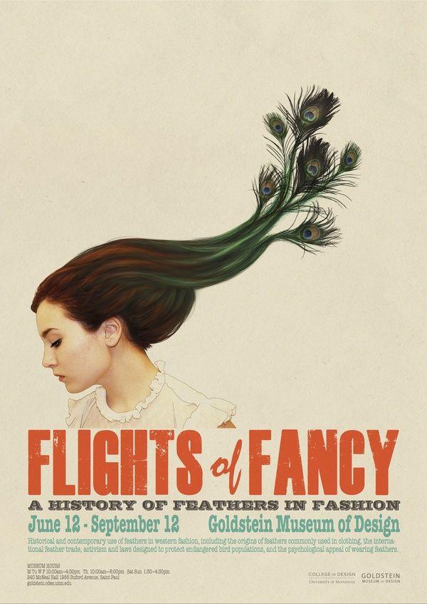 Flights of Fancy Exhibit Poster by Mari Mihai, via Behance