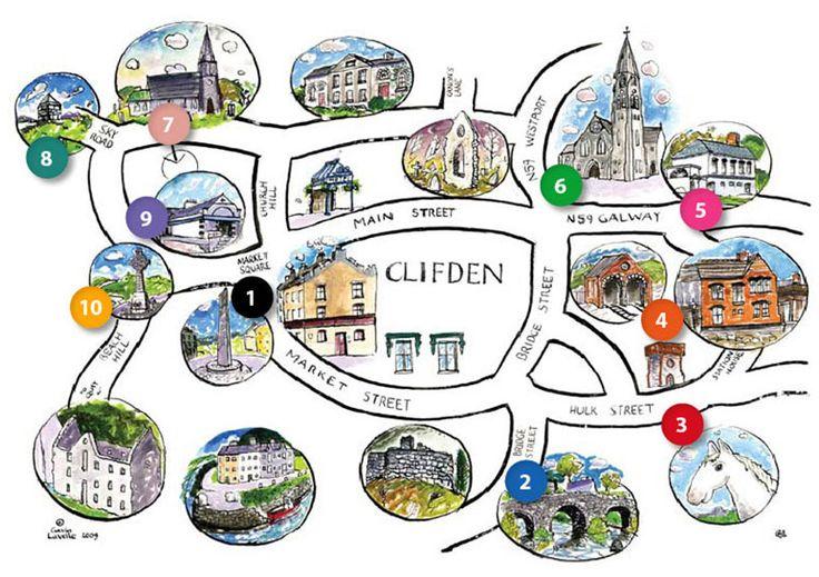 Clifden Walking Tour Map
