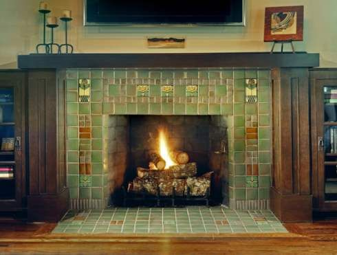 25 best ideas about adobe fireplace on pinterest for Craftsman gas fireplace
