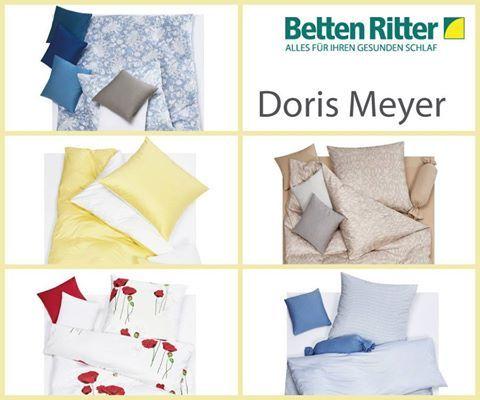 Doris Meyer Bettwäsche Der exklusive Bettwarenhersteller ist zwischen der Schwäbischen Alb und dem Schwarzwald zu Hause und bietet exklusive Bettwäsche und edle Spannbetücher aus Feinjersey und Mako-Satin an.  Die Designs werden in einem neuartigen Digitaldruckverfahren hergestellt und bieten eine große Varietät in Farbe und Motiven. Die Bettwäsche von Doris Meyer ist extrem weich und angenehm. https://www.bettenritter.com/Doris-Meyer