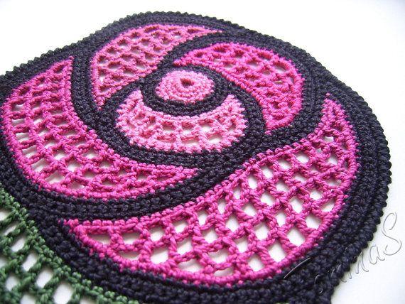Crochet applique crochet lace rose applique lace от TominasName