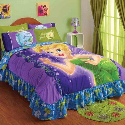 tinkerbell bedspread set twin for the bedroom pinterest