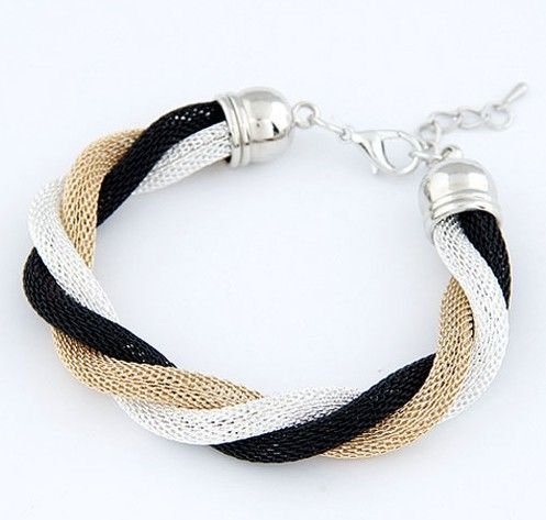 Casual three colors alloy school teenage bracelet