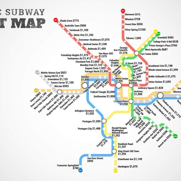 Washington DC Metro Rent Map - Thrillist