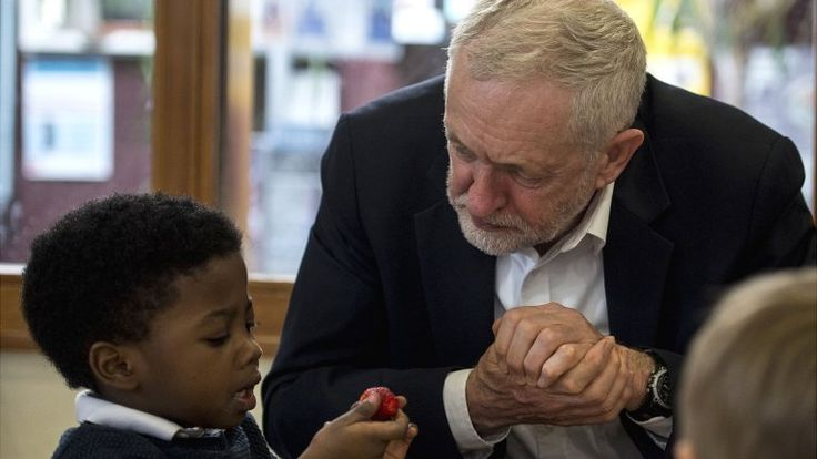 The Labour leader says charging VAT on private school fees would pay for free meals.