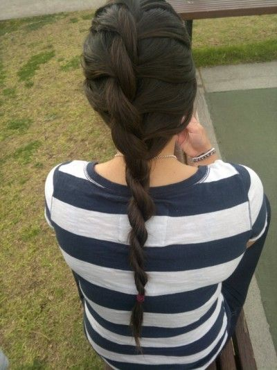 Long beautiful and intricate ponytail hairstyle