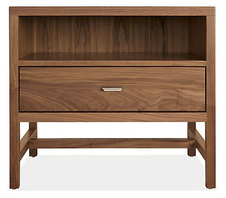 The simple form of our Berkeley nightstands pairs equally well with both classic and modern styles. Handcrafted in North Dakota from solid wood and carefully selected wood veneers with brushed nickel or hand-forged steel pulls, the Berkeley nightstand will serve you well for years to come.