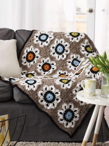 City Solarium Throw - free pattern