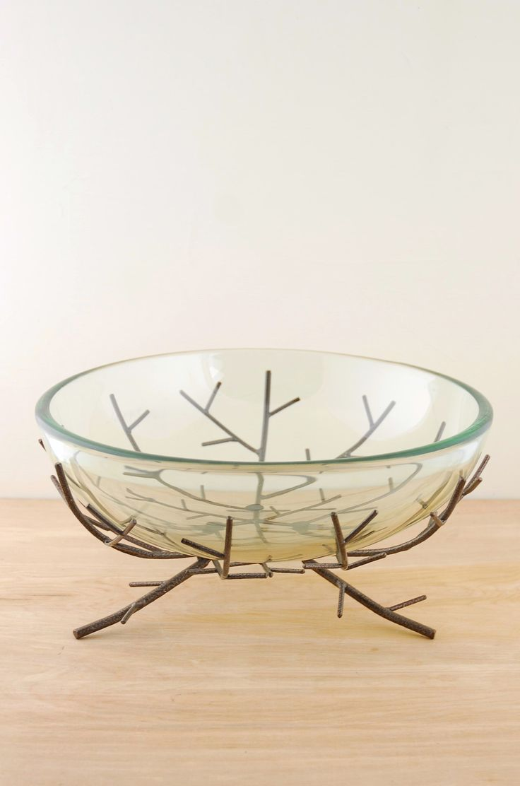 Floating Candle Bowl on Metal Branch Stand - Savoncrafts for $37.00