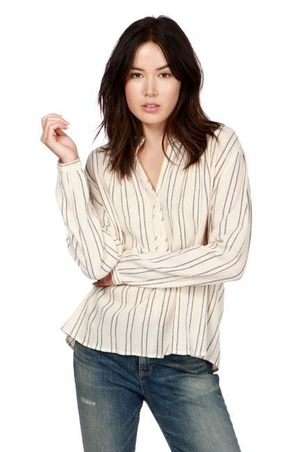 Lucky Brand - Striped Artisan Popover in Pink/multi (7W44361)