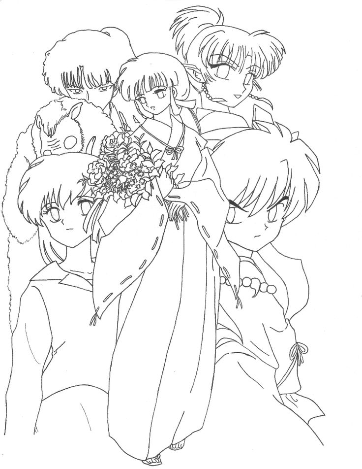 InuYasha Group lineart by Aiookami on DeviantArt ...