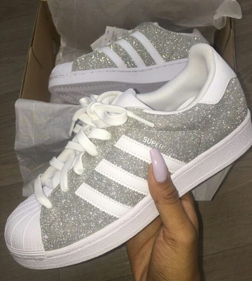 Glitter Adidas fashion shoes sneakers adidas style fashion and style