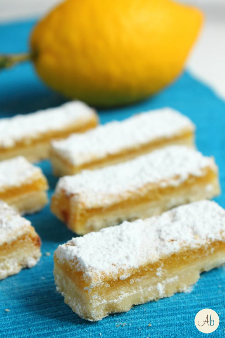 Lemon Bars - barrette dolci al limone | Aryblue