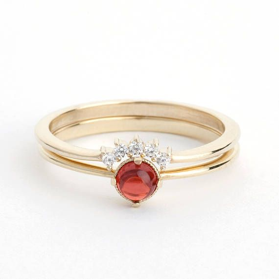 curved wedding band garnet wedding ring set wedding ring set