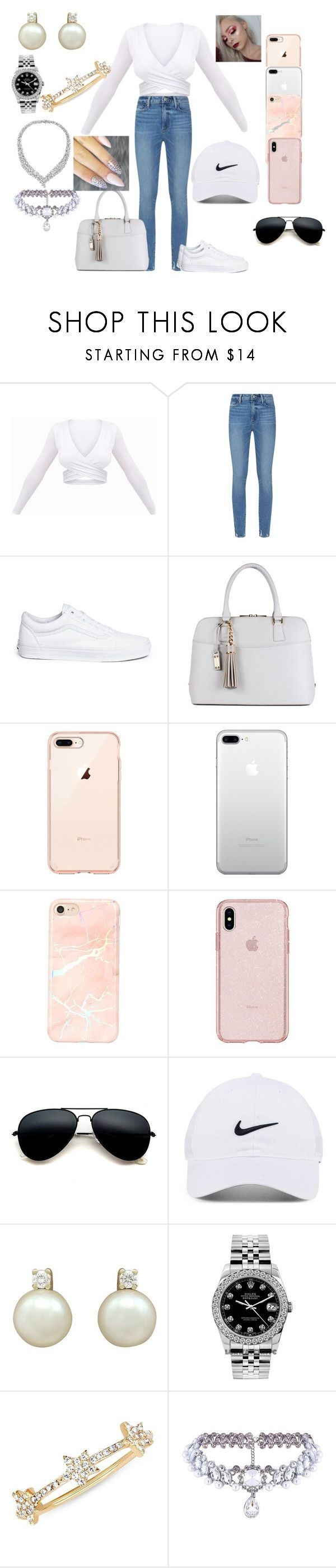 """""""Mall outfit"""" by cristaljuarezg ❤ liked on Polyvore featuring Paige Denim, Vans, NIKE, Rolex, EF Collection and WithChic"""