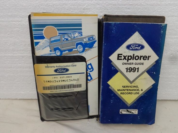 The 25 best ford owners manual ideas on pinterest 1991 ford explorer owners manual book guide 91 oem fandeluxe Image collections