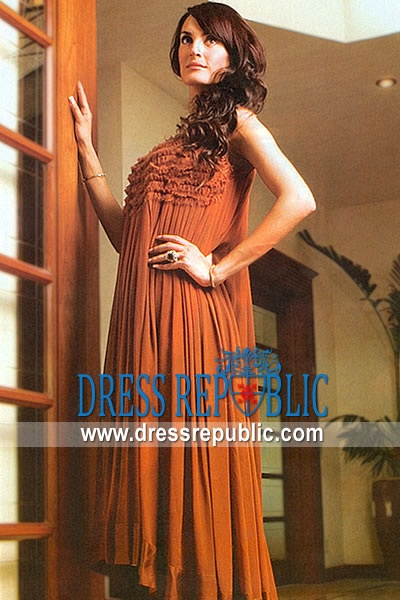 Rust Wemmer, Product code: DR7436, by www.dressrepublic.com - Keywords: Casual Pakistani Dresses Online 2011 - 2012 Collection, Casual Pakistani Designs Online Shopping