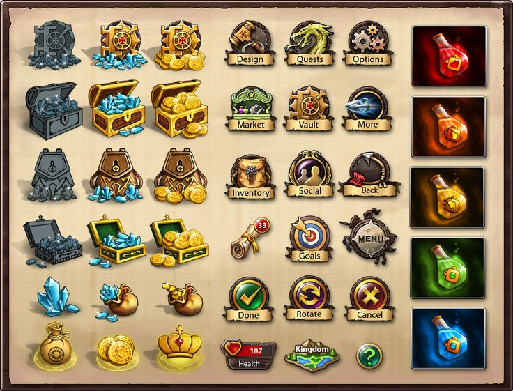 Icons for 'Kingdom of Heroes' by nasar-ullah-khan on deviantART