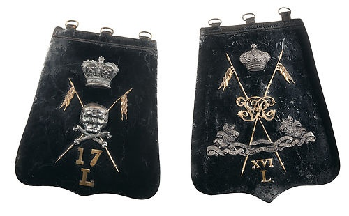 16th and 17th Lancers Victorian Undress Officers sabretache Crimean War era