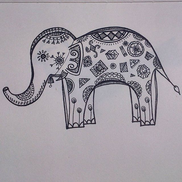 Starting off with my new 'Patterned Animal Illustration' series ( inspired by @kerbyrosanes geometric beasts). First of the lot is - The Elephant  #art #artwork #illustration #sketch #drawing #pattern #animal #elephant #design #handdrawn #freehand #artist #zentangle #hennadesign #intricate #doodle #sketchbook #artoftheday #instaartist #artistsoninstagram #picoftheday #illustrationoftheday #india #arts_help #arts_gallery #nature #creative #art_spotlight #artsy #animalart