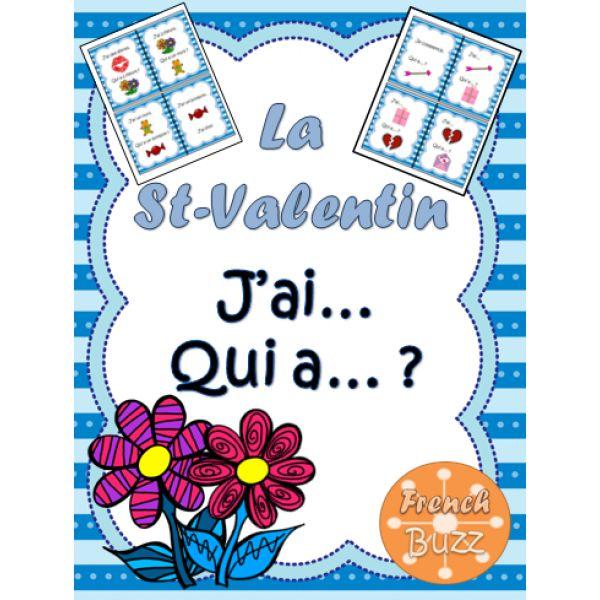 "La St-Valentin - jeu ""j'ai... qui a...?"""
