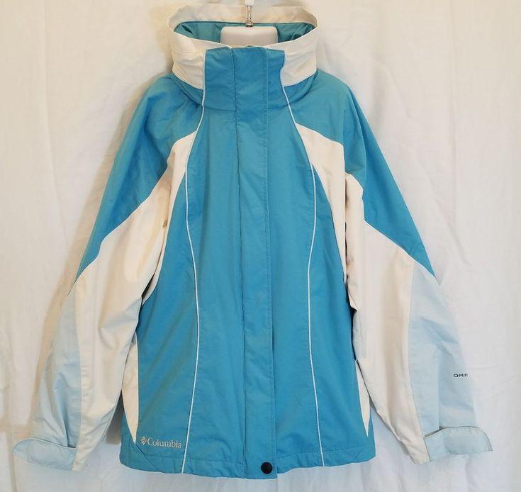 Columbia Sportswear Youth Girls 10 12 Turquoise Omni Tech Hooded Coat Jacket #Columbia #BasicCoat #Everyday