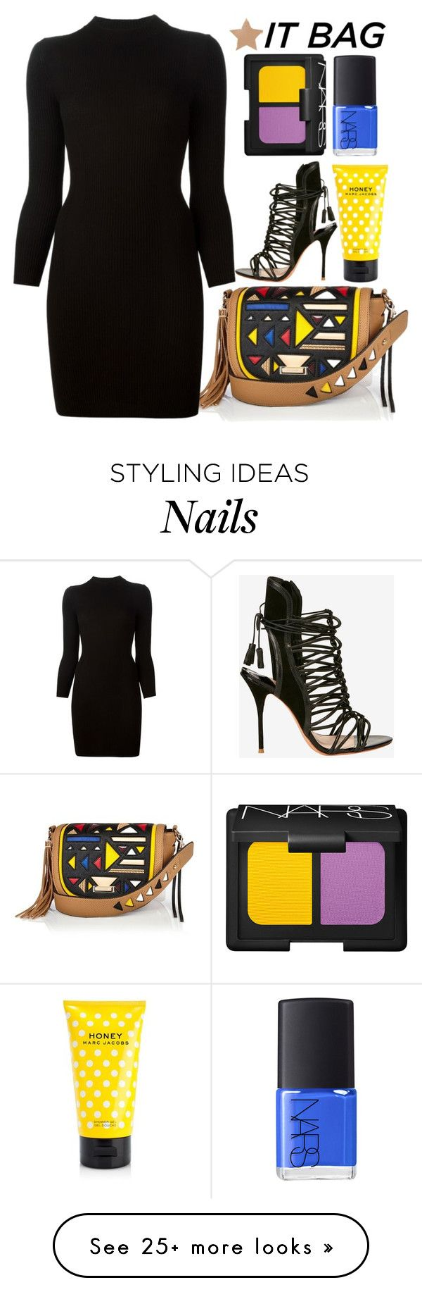 """RIver island Bag"" by bohedgian on Polyvore featuring River Island, Maison Margiela, Sophia Webster, NARS Cosmetics, Marc Jacobs, itbag, polyvoreeditorai and riiverisland"