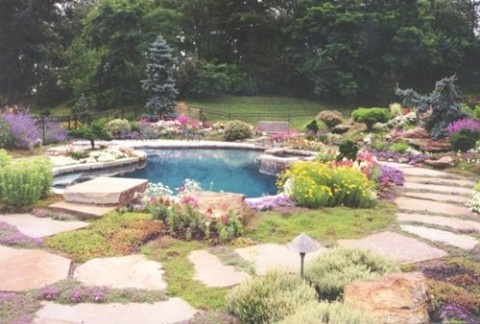 natural stone for garden design