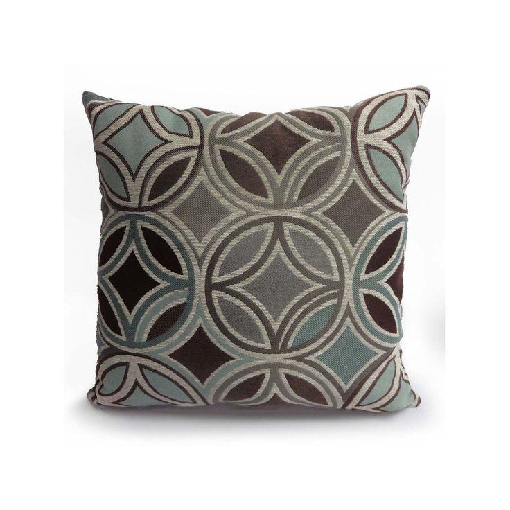 Motion Jute Throw Pillow, Beig/Green (Beig/Khaki)