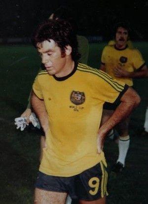 Trailblazer: Johnny Warren at the 1974 World Cup.
