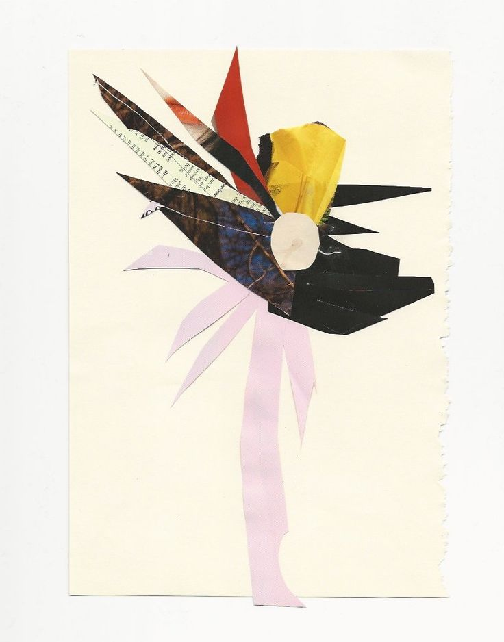 "Robert Kuta ""flower"", collage on paper, 2015 /www.robertkuta.com/"