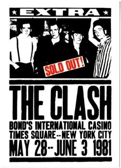 The Clash. The best punk rock band to ever live. Don't care about the drugs they did, or the crimes they committed, its all about the music.
