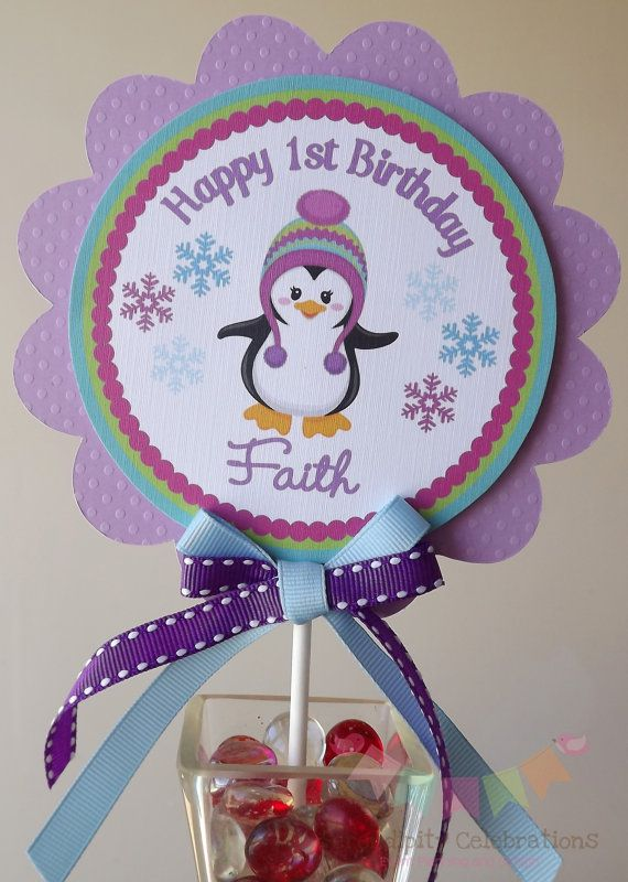 Colorful Penguin Winter ONEderland Smash by SerendipityPartyShop, $6.00