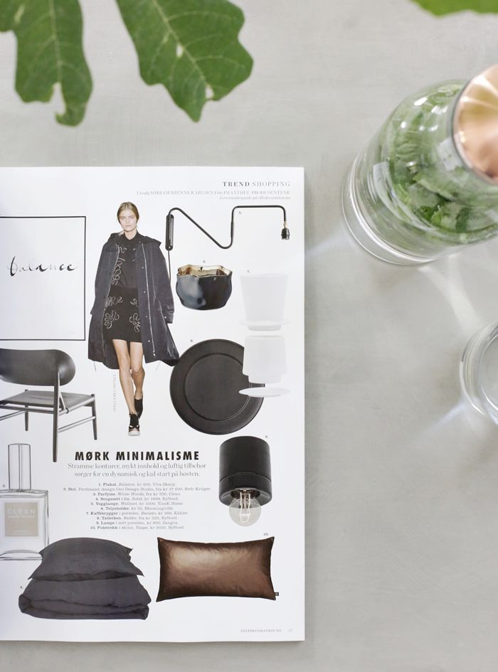 Concrete, Menu, Fig tree, Stylizimo home, Elle Decoration Norge