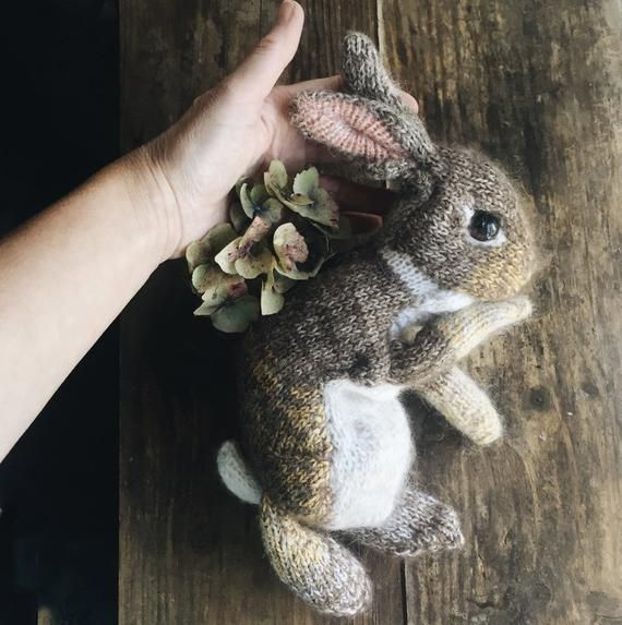 A knitting PATTERN to make this little wild rabbit ◊ The finished knitted  bunny stands 30cm  12in tall (approx) ◊ Included in this pattern  - Wild  rabbit ... 39cc7df0169d