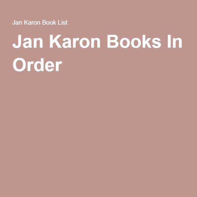 Jan Karon Books In Order