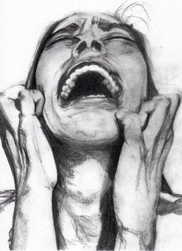 Despair 1. Pencil on paper...trying to create a deep emotion...