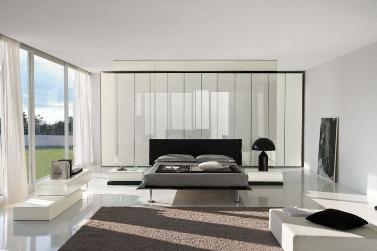 modern bedrooms | Impera Modern-Contemporary lacquer platform bed by La furniture store ...