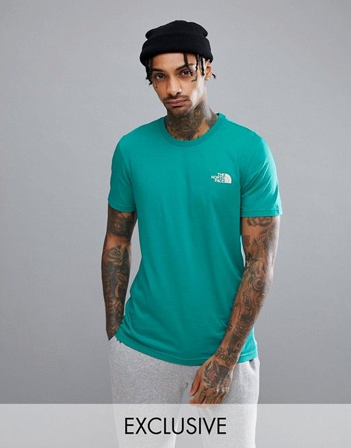 9979fef77 The North Face Simple Dome T-Shirt Exclusive to ASOS In Bright Green ...