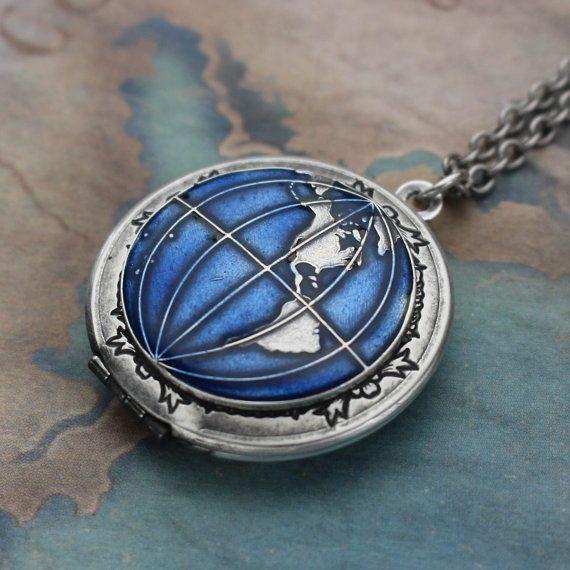 Best 25 world map necklace ideas on pinterest world globe locket necklace earth jewelry world travel jewelry world map necklace gumiabroncs Image collections