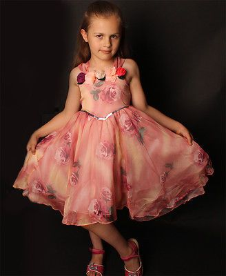 Kleid Festkleid Festliche Kleidung Mädchen Kinderkleid 92 98 104 110 116 128 134