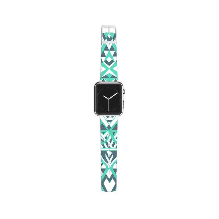 "Pom Graphic Design ""Tribal Simplicity"" Teal Apple Watch Strap"