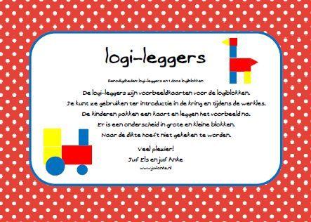 Leuke kaarten om met de logiblokken vormen na te leggen