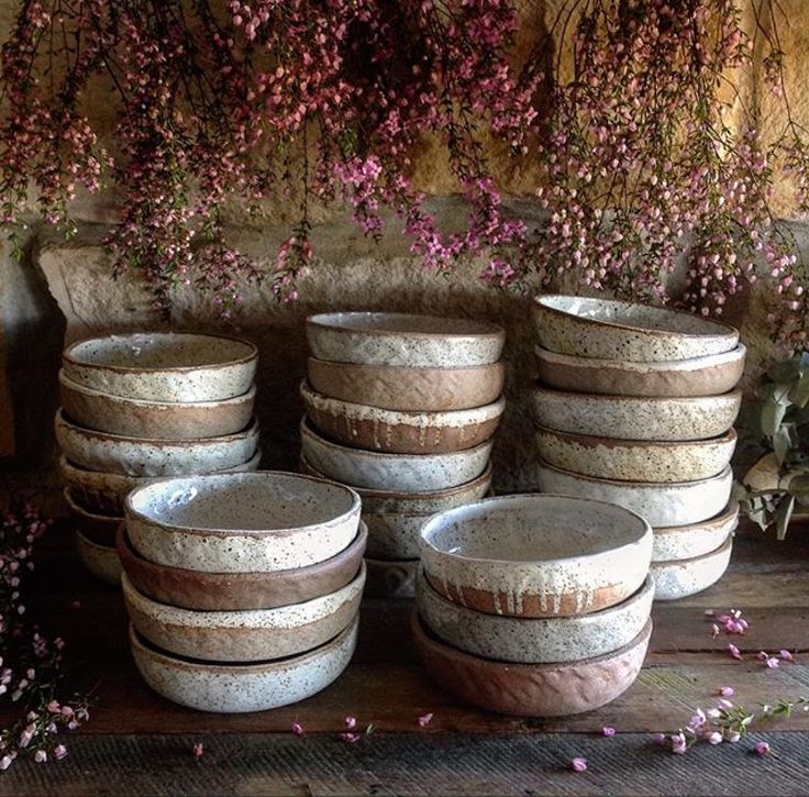Barakee Pottery rustic bowls