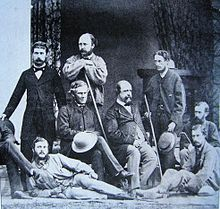 Alexander Cunningham (4th from the right) Cunningham wrote numerous books and monographs and made extensive collections of artefacts. Some of his collections were lost, but most of the gold and silver coins and a fine group of Buddhist sculptures and jeweler were bought by the British Museum in 1894.