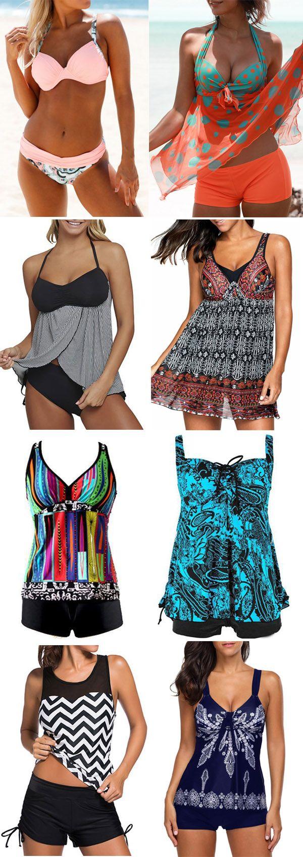hot sale swimwear, fashion swimsuits for women, tankini set, tankinis, swimdress, and bikinis