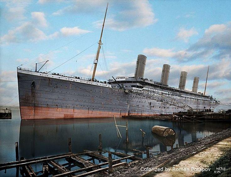 Olympic at the scrap yard. Titanic ship, Rms titanic