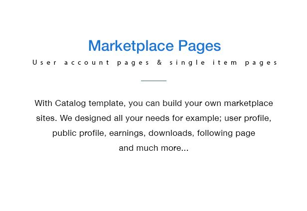 Catalog Buy Sell Marketplace Responsive Site Template Sell